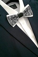 Doplnky - Čierno-biely motýlik - 9114446_
