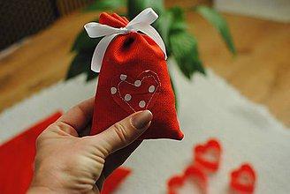 Úžitkový textil - Valentýnske vrecúško - 9114162_