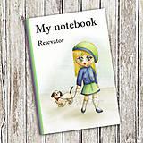 Papiernictvo - Venčenie psa - dievčenský zápisník - 9113139_