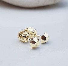 Náušnice - Golden stones - 9118057_