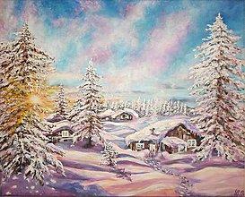 Obrazy - Teplo zimy - 9117602_