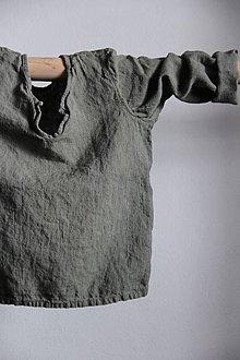 Topy - Detský ľanový top (Béžová) - 9119638_