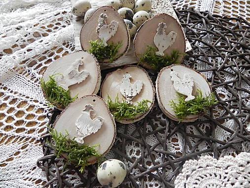 Dekorácie - Veľkonoční  kohútikovia z brezy:-) - 9116847_