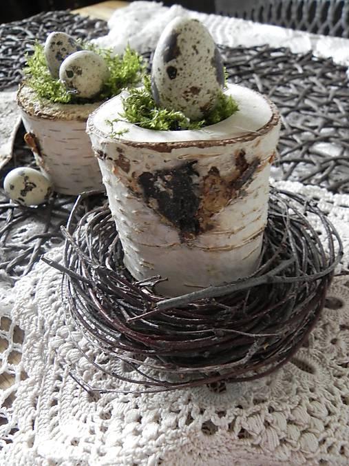 Dekorácie - Veľkonočné prepeličky v machu:-) - 9116906_