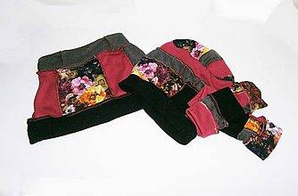 Šály - lel, čiapka ,nákrčník a rukavice -kvet - 9119253_