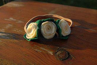 Detské doplnky - Čelenka ruže - 9116842_