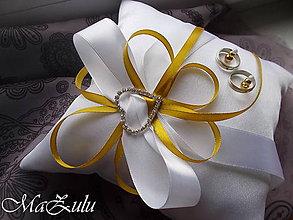 Prstene - svadobný vankúšik - 9116185_