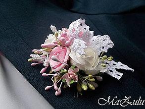 Pierka - Vintage svadobné pierko 1. - 9117493_