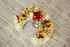 Ozdoby do vlasov - Svadobná kvetinová parta Lúka - 9115952_