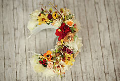 Ozdoby do vlasov - Svadobná kvetinová parta Lúka - 9115954_