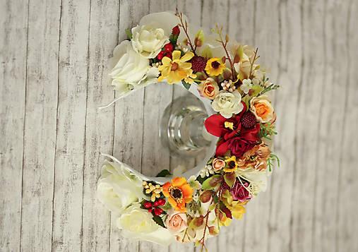 Svadobná kvetinová parta Lúka