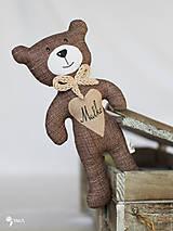 Hračky - hnedý macko s menom na želanie - 9116128_