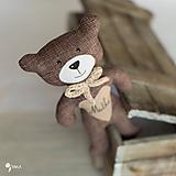 Hračky - hnedý macko s menom na želanie - 9116129_