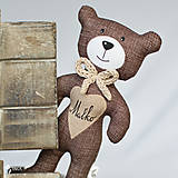 Hračky - hnedý macko s menom na želanie - 9116137_