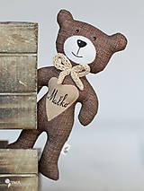 Hračky - hnedý macko s menom na želanie - 9116139_