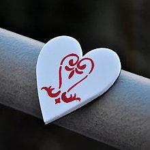 Magnetky - Magnetka Srdce ornament - 9119037_