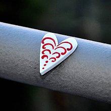 Magnetky - Magnetka Srdce maľované - 9119041_