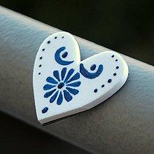Magnetky - Magnetka Srdce modrô - 9119056_