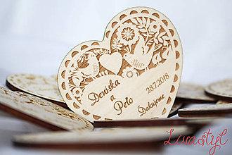 Darčeky pre svadobčanov - Svadobné magnetky