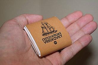 Papiernictvo - Cestovateľské vreckovky - 10 balení - bledohnedý obal - 9118168_