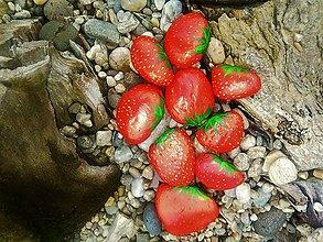 Dekorácie - Jahôdky skoro na spapanie .-) dekoračné kamenčeky AKCIA 5+1grátis :-) - 9118407_