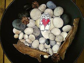 Dekorácie - Zamilovaní anjelíčkovia :-) dekoračný kamenček - 9118424_