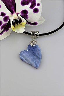 Náhrdelníky - Srdce z nebies - prívesok modrý rodochrozit - 9116300_
