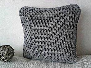 Úžitkový textil - Vankúš Nordic Day tmavošedý menší - 9116355_