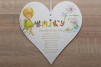 Detské doplnky - Tabuľka 25cm-Pravidlá detskej izby - 9115984_