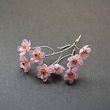 Náušnice - Náušnice ružové kvietky - 9119338_