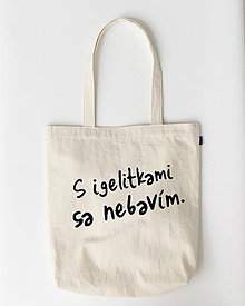 Nákupné tašky - S igelitkami sa nebavím - nákupná plátená taška - 9119877_