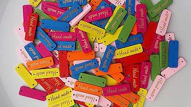 Galantéria - Štítky HANDMADE farebné - 9117322_