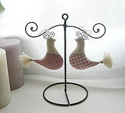 Dekorácie - Dekorácia stojan s vtáčikmi - 9118897_