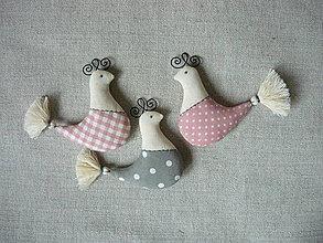 Dekorácie - Dekorácia vtáčik - 9119162_