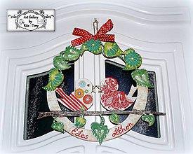 Dekorácie - Vidiecky veniec na dvere/stenu :) - 9118574_