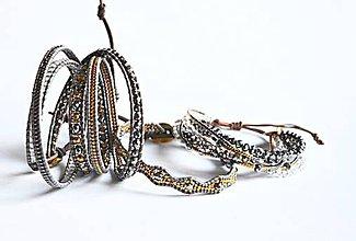 Sady šperkov - Sada dámskych šperkov BRYXI v šedo-zlatej farbe - 9116418_
