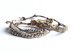 Sady šperkov - Sada dámskych šperkov BRYXI v šedo-zlatej farbe - 9116446_