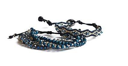 Sady šperkov - Sada dámskych šperkov BRYXI v modro-striebornej farbe - 9116468_