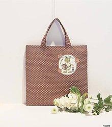 Nákupné tašky - Ekotaška - žabka záhradníčka - 9117770_