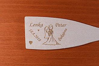 Darčeky pre svadobčanov - Drevená vareška gravírovaná vypaľovaná darček svadobčanom 7 - 9116042_