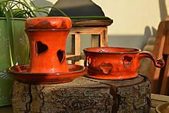 Svietidlá a sviečky - Valentínska kolekcia - 9118120_