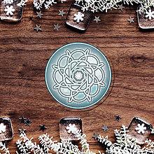 Pomôcky - Podšálka zmrznutá snehová vločka - 9116065_