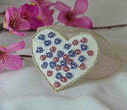 Odznaky/Brošne - Rozkvitnuté srdce - 9118164_