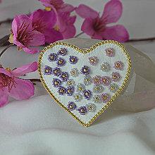 Odznaky/Brošne - Brošňa srdce - 9118166_