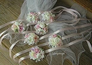 Náramky - svadobný náramok..nežný - 9119741_