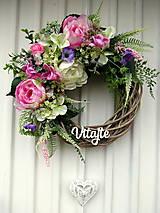 Dekorácie - Jarný veniec na dvere