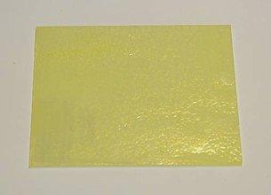Suroviny - Sklo svetlo žltej farby, opálové, priehľadné, zn. Bullseye, 10x12cm - 9120309_