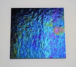 Suroviny - Sklo kráľovsky fialové modré, zn. Bullseye, 12x12 cm - 9120454_