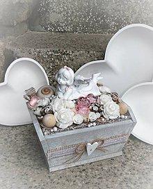 Dekorácie - Jemne nežná dekorácia s anjelom - 9120208_