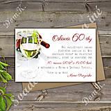 Pozvánky na oslavu jubilea